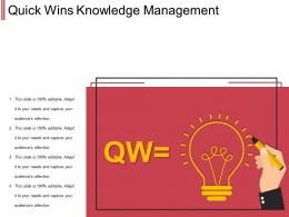 Quick Wins Knowledge Management Ppt Background Designs