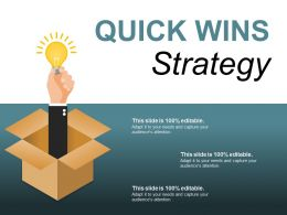 Quick Wins Strategy Ppt Background Graphics