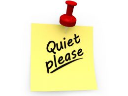 Quiet Please Text On Sticky Note Stock Photo
