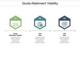 Quota Attainment Visibility Ppt Powerpoint Presentation Summary Topics Cpb