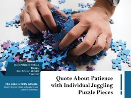 Quote About Patience With Individual Juggling Puzzle Pieces