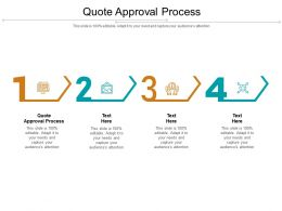 Quote Approval Process Ppt Powerpoint Presentation Show Outline Cpb
