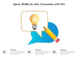 Quote Bubble For Idea Generation With Pen