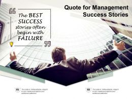 Quote For Management Success Stories