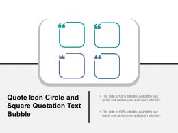 Quote Icon Circle And Square Quotation Text Bubble