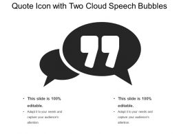 Quote Icon With Two Cloud Speech Bubbles