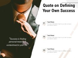 Quote On Defining Your Own Success