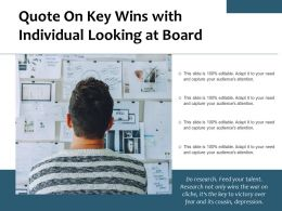 Quote On Key Wins With Individual Looking At Board