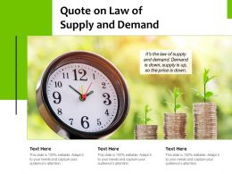 Quote On Law Of Supply And Demand