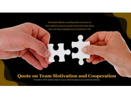 Quote On Team Motivation And Cooperation