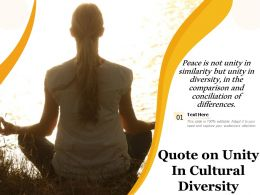 Quote On Unity In Cultural Diversity