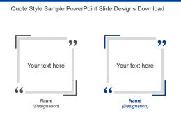 Quote Style Sample Powerpoint Slide Designs Download