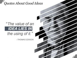 Quotes About Good Ideas Powerpoint Slide Download Powerpoint Slide Graphics