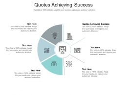 Quotes Achieving Success Ppt Powerpoint Presentation Icon Objects Cpb