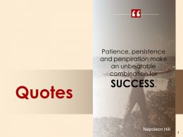 Quotes And Success Ppt Powerpoint Presentation Gallery Infographic Template