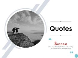 Quotes Annual Business Plan K93 Ppt Powerpoint Presentation Gallery Samples