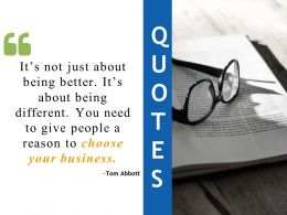 Quotes Choose Your Business Ppt Designs Download