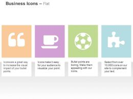 Quotes Coffee Football Puzzle Piece Ppt Icons Graphics