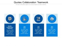 Quotes Collaboration Teamwork Ppt Powerpoint Presentation Inspiration Template Cpb