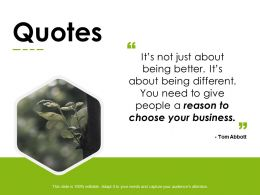 Quotes Communication Business E61 Ppt Powerpoint Presentation Infographics Images