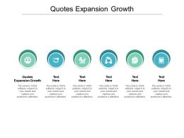 Quotes Expansion Growth Ppt Powerpoint Presentation Show Slides Cpb