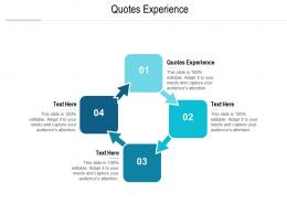Quotes Experience Ppt Powerpoint Presentation File Format Ideas Cpb