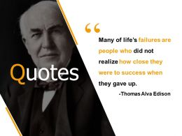 Quotes Failures And Success K23 Ppt Powerpoint Presentation Show Skills