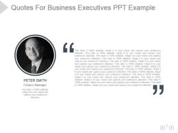 Quotes For Business Executives Ppt Example