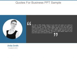 Quotes For Business Ppt Sample