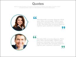 Quotes For Client Testimonials For Website Powerpoint Slides