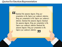 Quotes For Emotion Representation Flat Powerpoint Design