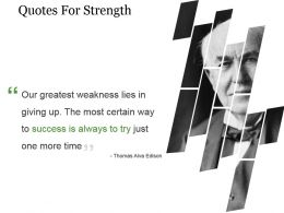 Quotes For Strength Powerpoint Slide Images