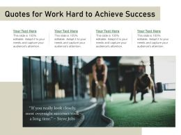 Quotes For Work Hard To Achieve Success