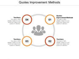Quotes Improvement Methods Ppt Powerpoint Presentation Pictures Ideas Cpb