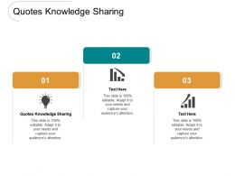 Quotes Knowledge Sharing Ppt Powerpoint Presentation Styles Slides Cpb