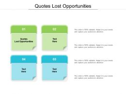 Quotes Lost Opportunities Ppt Powerpoint Presentation Outline Clipart Images Cpb
