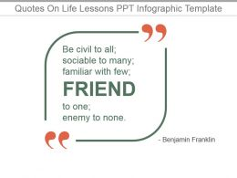 Quotes On Life Lessons Ppt Infographic Template