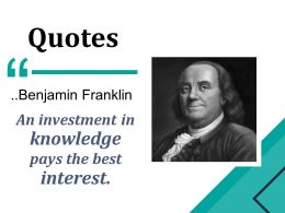 Quotes Powerpoint Slide Information