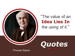 Quotes Powerpoint Slide Presentation Sample 1