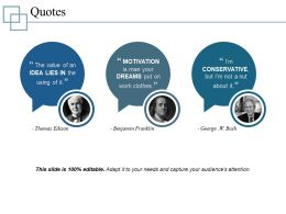 Quotes Powerpoint Topics Template 1