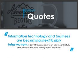 Quotes Ppt Infographic Template 1