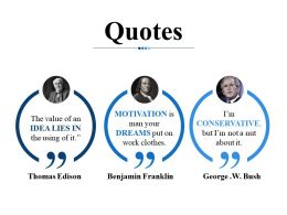 Quotes Ppt Infographic Template Slideshow