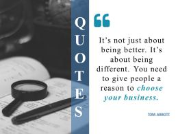 Quotes Ppt Infographics