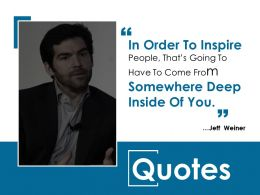 Quotes Ppt Model Outfit