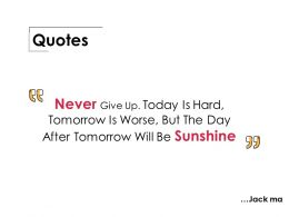 Quotes Ppt Professional Good