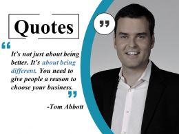 Quotes Ppt Styles Brochure