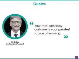 Quotes Presentation Outline