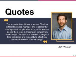 Quotes Presentation Powerpoint Example Template 1