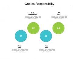 Quotes Responsibility Ppt Powerpoint Presentation Portfolio Format Cpb