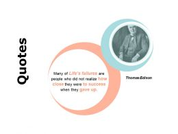 Quotes Success F398 Ppt Powerpoint Presentation Pictures Templates